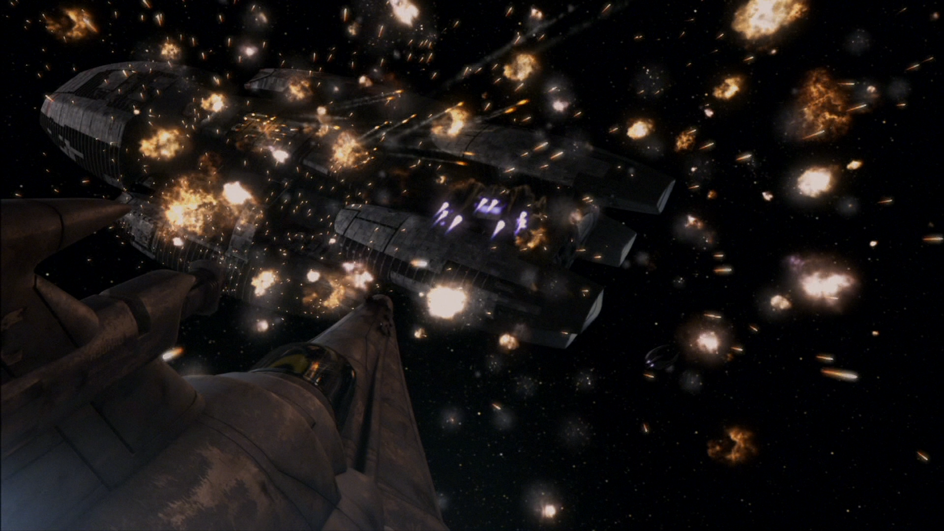 Battlestar Galactica Space Battle