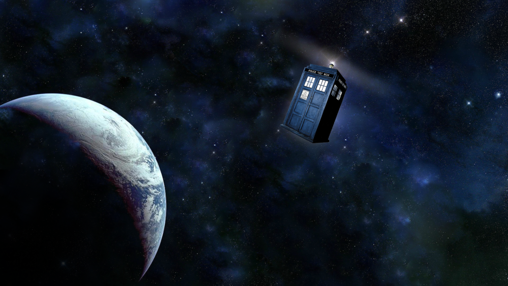 TARDIS in Space by katnipsonfire