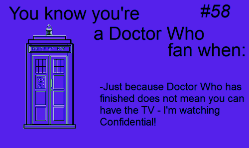 I'm watching Doctor Who Confidential