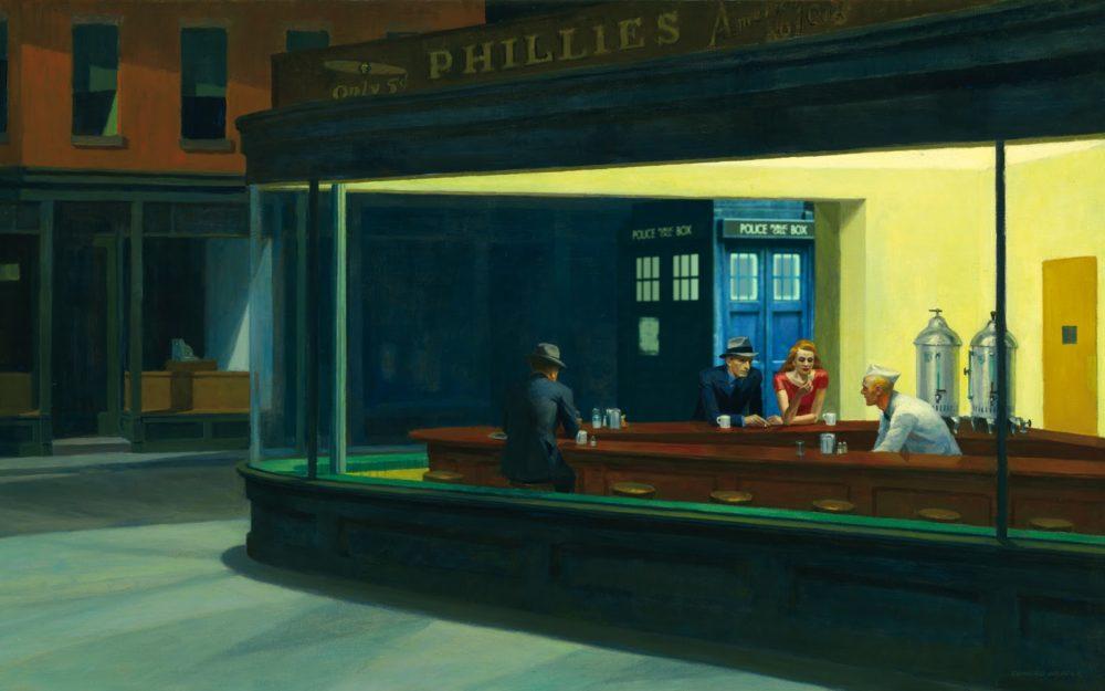 TARDIS vs Hopper by stinglacson