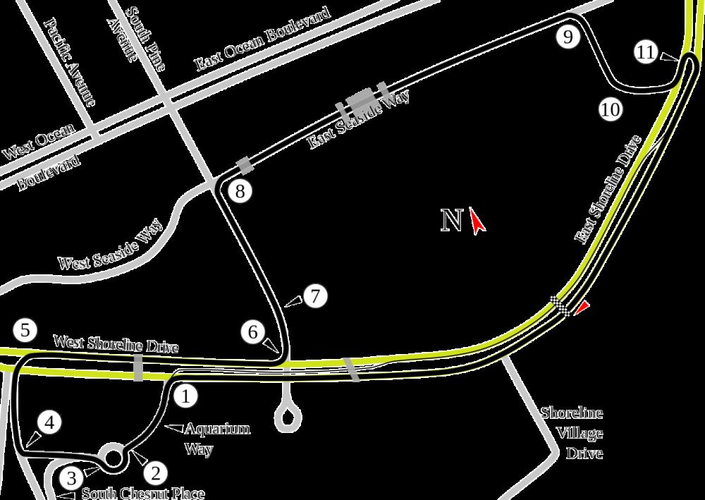 Long Beach trasa wyścigu