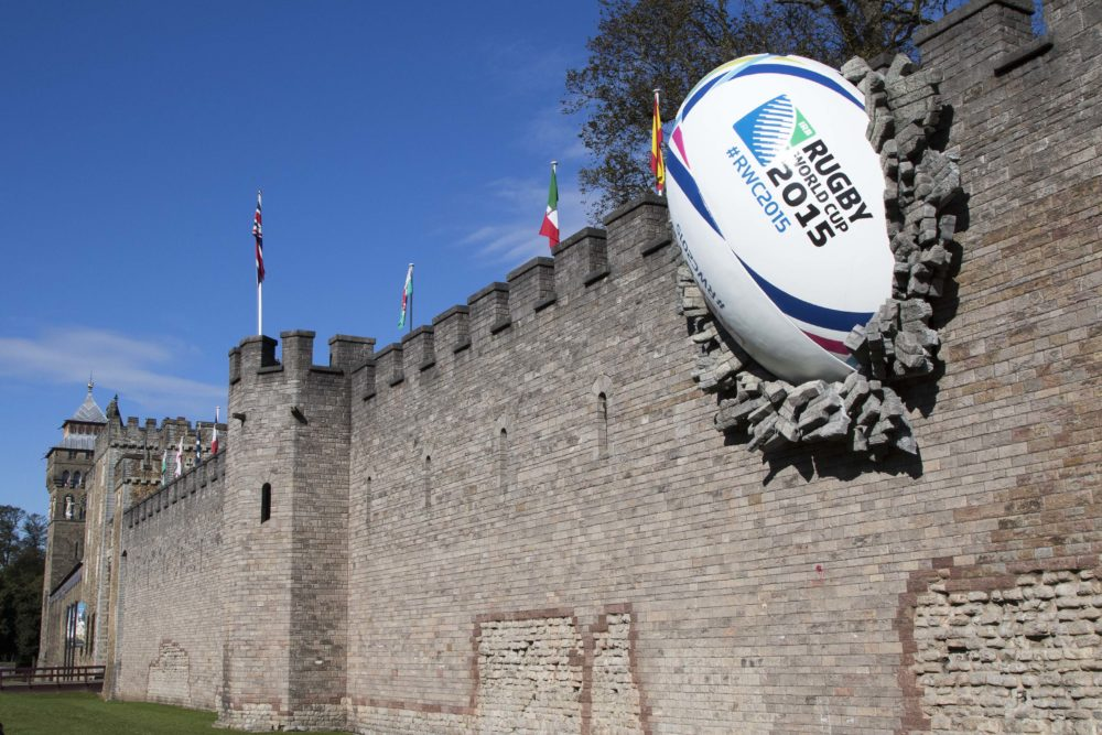 Cardiff Castle - Rugby Wall