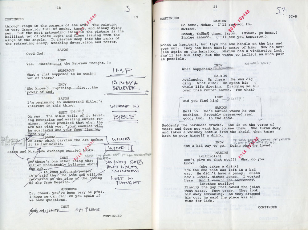Indiana Jones Script