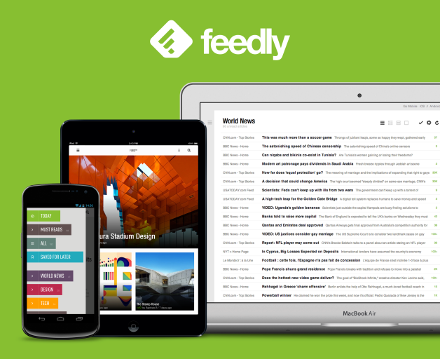 Feedly website i mobile