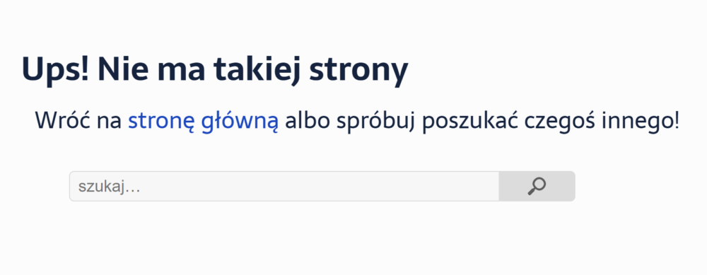 Error 404 joannaholy.pl