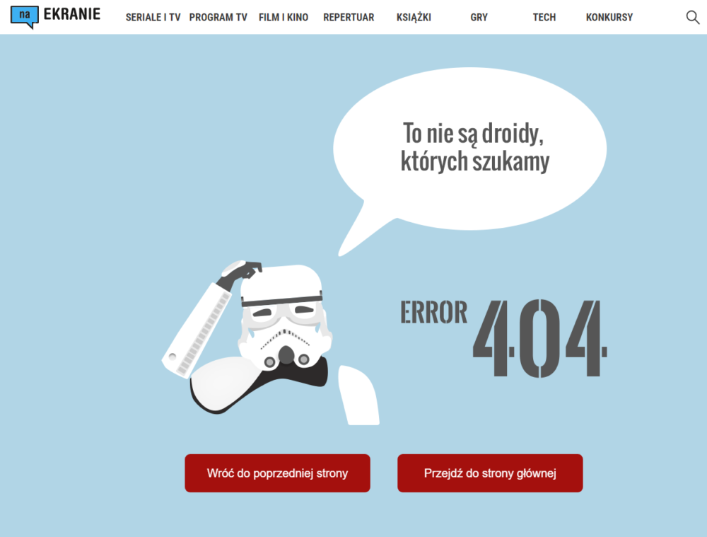 Error 404 naEKRANIE Star Wars