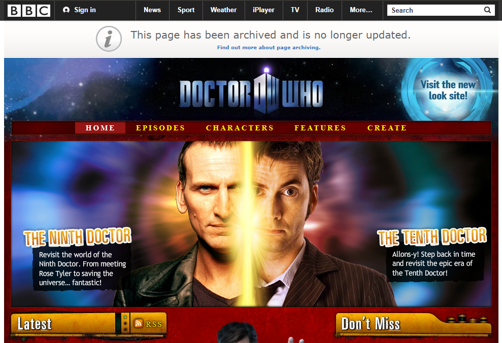 BBC Archive Doctor Who Website