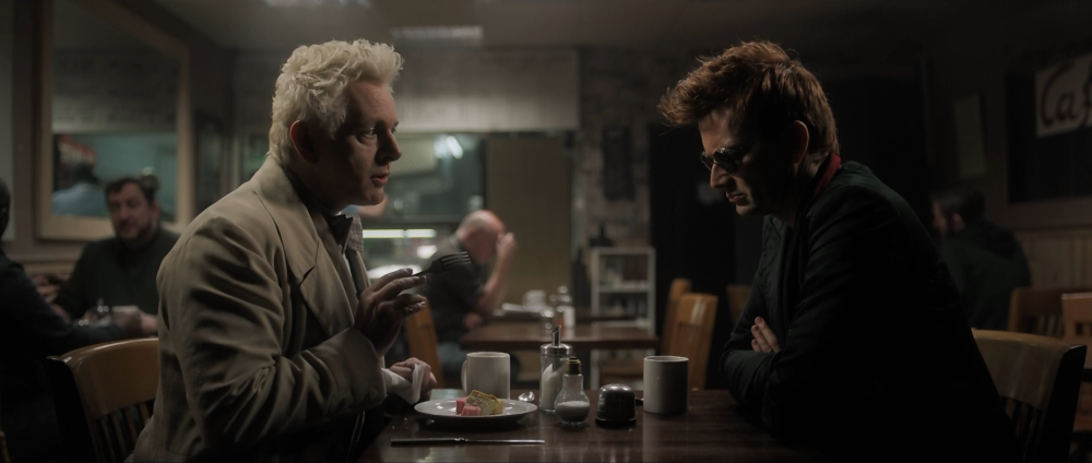 Good Omens – Aziraphale, Crowley and dinner