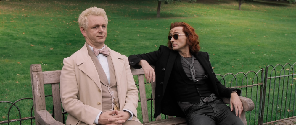 Good Omens – Crowley long hair