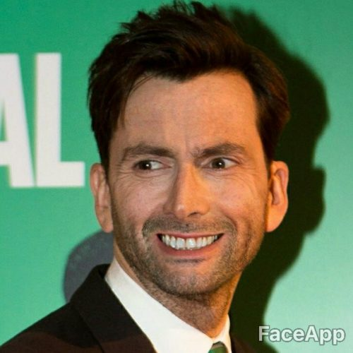 David Tennant smile after FaceApp