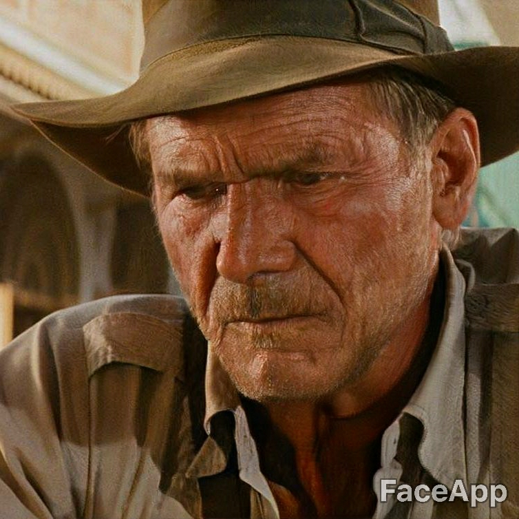 Harrison Ford old after FaceApp