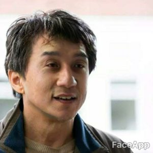 Jackie Chan young after FaceApp