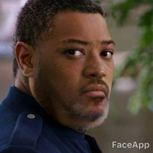 Laurence Fishburne young after FaceApp