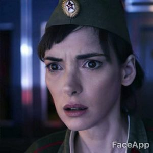 Winona Ryder young after FaceApp