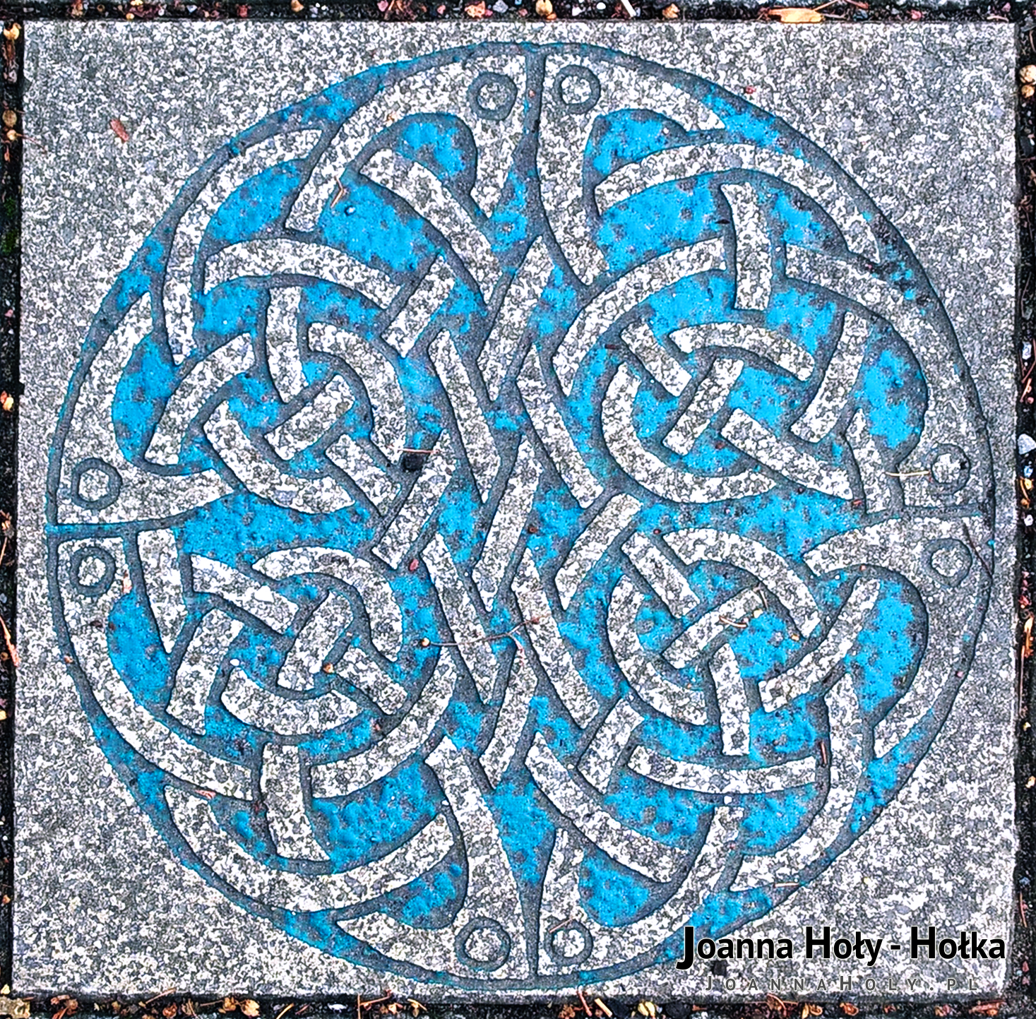 Cardiff Bute St artistic pavement flagstone