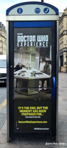 Doctor Who Experience ad on Cardiff street