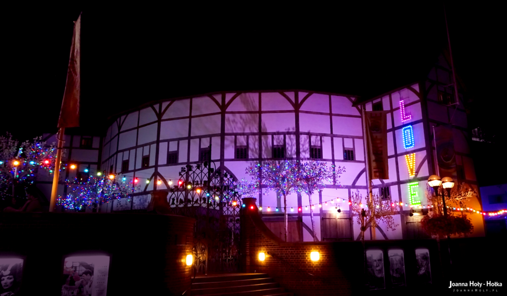 Globe Theatre at night