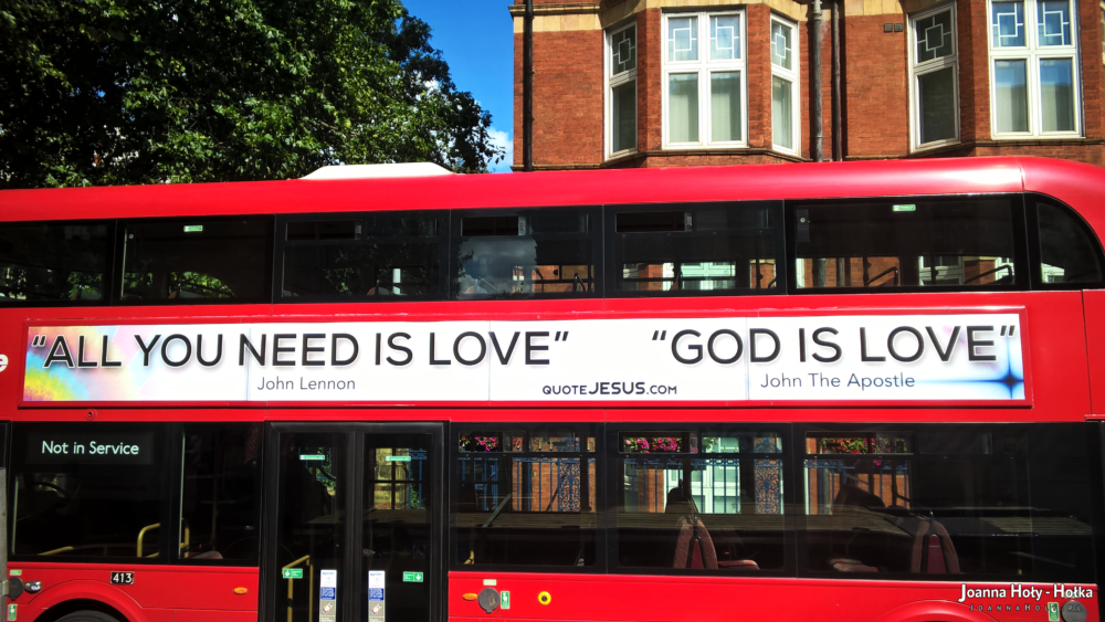 London bus God is love