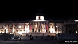 London National Gallery at night